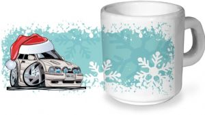 Koolart Christmas Santa Hat Design For MK4 Escort RS Turbo - Ceramic Tea Or Coffee Mug